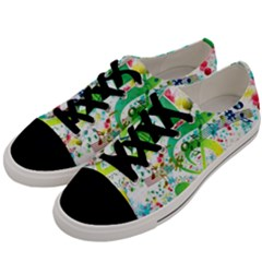 Points Circle Music Pattern Men s Low Top Canvas Sneakers by Nexatart