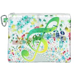 Points Circle Music Pattern Canvas Cosmetic Bag (xxl) by Nexatart