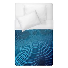 Blue Background Brush Particles Wave Duvet Cover (single Size) by Nexatart