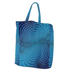 Blue Background Brush Particles Wave Giant Grocery Tote