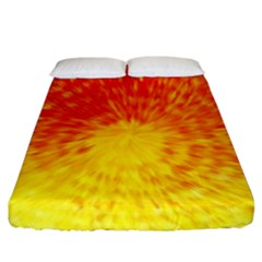 Abstract Explosion Blow Up Circle Fitted Sheet (california King Size)