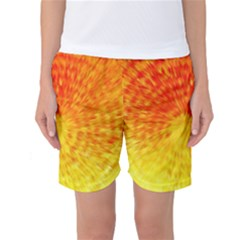 Abstract Explosion Blow Up Circle Women s Basketball Shorts by Nexatart