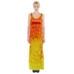 Abstract Explosion Blow Up Circle Maxi Thigh Split Dress by Nexatart