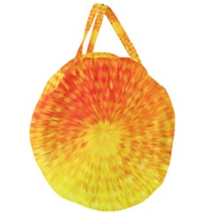 Abstract Explosion Blow Up Circle Giant Round Zipper Tote