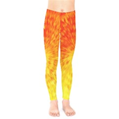 Abstract Explosion Blow Up Circle Kids  Legging