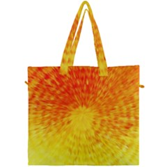 Abstract Explosion Blow Up Circle Canvas Travel Bag by Nexatart