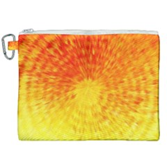 Abstract Explosion Blow Up Circle Canvas Cosmetic Bag (xxl) by Nexatart