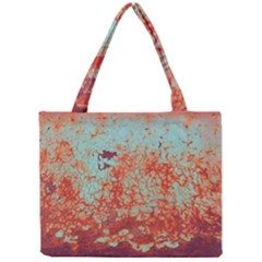 Orange Blue Rust Colorful Texture Mini Tote Bag by Nexatart