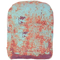 Orange Blue Rust Colorful Texture Full Print Backpack by Nexatart