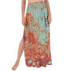 Orange Blue Rust Colorful Texture Maxi Chiffon Tie Up Sarong