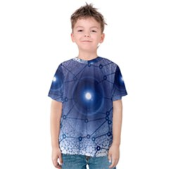 Network Social Abstract Kids  Cotton Tee