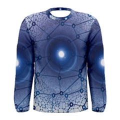 Network Social Abstract Men s Long Sleeve Tee