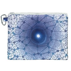 Network Social Abstract Canvas Cosmetic Bag (xxl)
