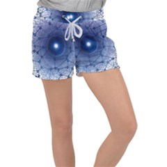 Network Social Abstract Women s Velour Lounge Shorts