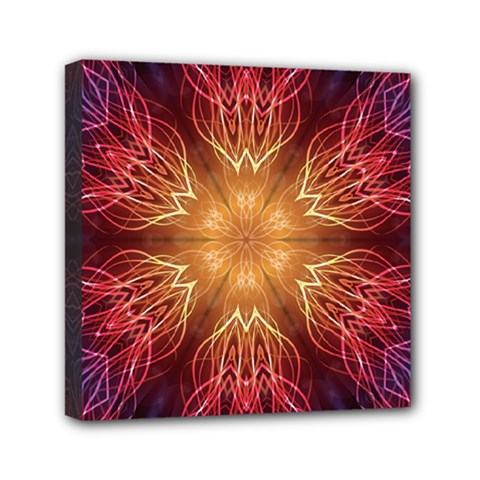 Fractal Abstract Artistic Mini Canvas 6  X 6  by Nexatart