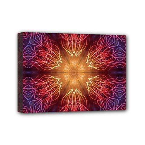 Fractal Abstract Artistic Mini Canvas 7  X 5  by Nexatart