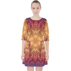 Fractal Abstract Artistic Pocket Dress