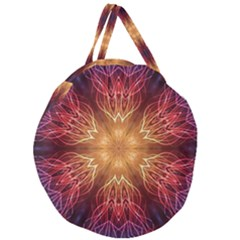 Fractal Abstract Artistic Giant Round Zipper Tote