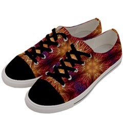 Fractal Abstract Artistic Men s Low Top Canvas Sneakers by Nexatart