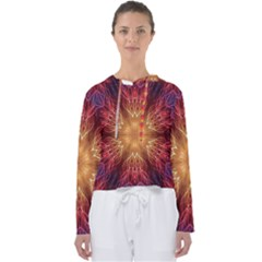 Fractal Abstract Artistic Women s Slouchy Sweat