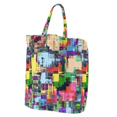 Color Abstract Background Textures Giant Grocery Tote