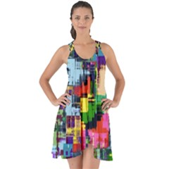 Color Abstract Background Textures Show Some Back Chiffon Dress