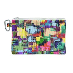 Color Abstract Background Textures Canvas Cosmetic Bag (large) by Nexatart