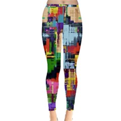 Color Abstract Background Textures Inside Out Leggings