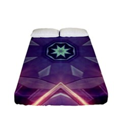 Abstract Glow Kaleidoscopic Light Fitted Sheet (full/ Double Size)