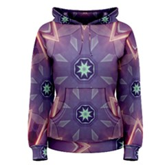 Abstract Glow Kaleidoscopic Light Women s Pullover Hoodie
