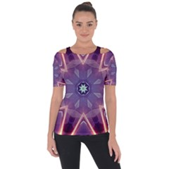 Abstract Glow Kaleidoscopic Light Short Sleeve Top