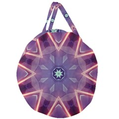 Abstract Glow Kaleidoscopic Light Giant Round Zipper Tote
