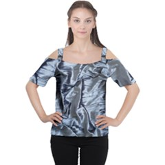 Pattern Abstract Desktop Fabric Cutout Shoulder Tee