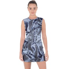 Pattern Abstract Desktop Fabric Lace Up Front Bodycon Dress