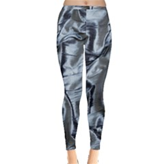 Pattern Abstract Desktop Fabric Inside Out Leggings by Nexatart