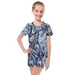 Pattern Abstract Desktop Fabric Kids  Mesh Tee And Shorts Set