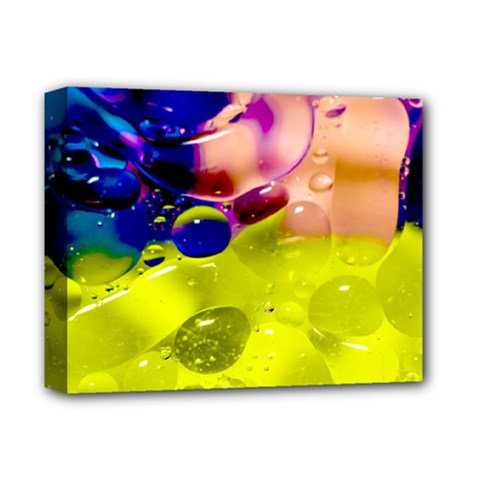 Abstract Bubbles Oil Deluxe Canvas 14  X 11