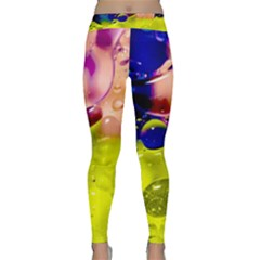 Abstract Bubbles Oil Classic Yoga Leggings by Nexatart