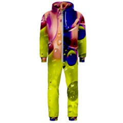 Abstract Bubbles Oil Hooded Jumpsuit (men)  by Nexatart