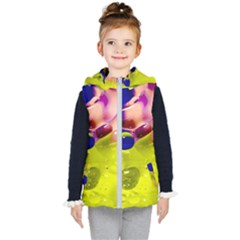 Abstract Bubbles Oil Kid s Hooded Puffer Vest