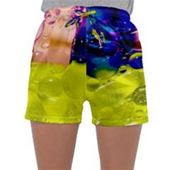 Abstract Bubbles Oil Sleepwear Shorts