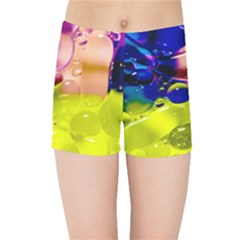 Abstract Bubbles Oil Kids Sports Shorts