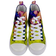 Abstract Bubbles Oil Women s Mid Top Canvas Sneakers