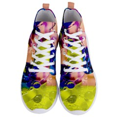 Abstract Bubbles Oil Men s Lightweight High Top Sneakers