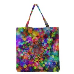 Background Color Pattern Structure Grocery Tote Bag