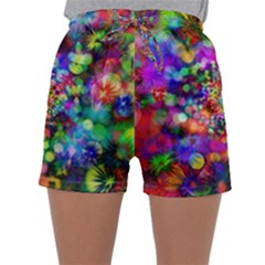 Background Color Pattern Structure Sleepwear Shorts