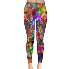 Background Color Pattern Structure Inside Out Leggings by Nexatart