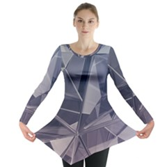 Abstract Background Abstract Minimal Long Sleeve Tunic  by Nexatart