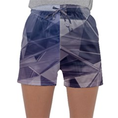 Abstract Background Abstract Minimal Sleepwear Shorts