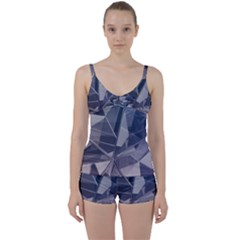 Abstract Background Abstract Minimal Tie Front Two Piece Tankini